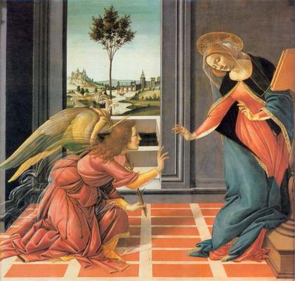 Cestello Annunciation painting, a Sandro Botticelli paintings reproduction, we never sell Cestello