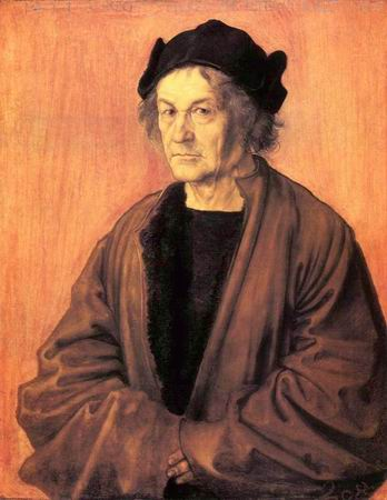 Albert Durer the Elder at Age 70 painting