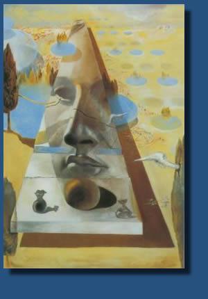 Apparition du visage painting, a Salvador Dali paintings reproduction, we never sell Apparition du