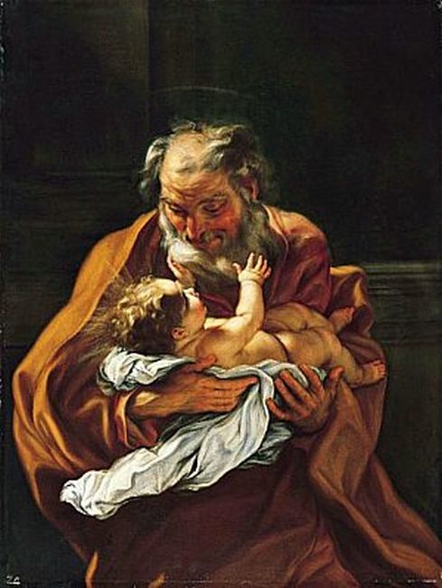 Baciccio Reproductions - Saint Joseph and the Infant Christ