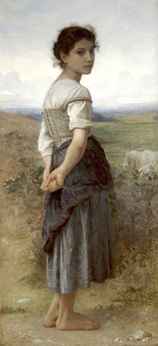 Bouguereau Oil Painting Reproductions- Young Shepherdess