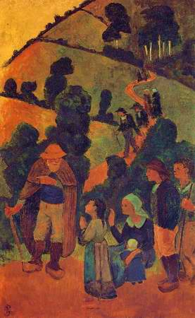 Bretons on a Path painting, a Paul Serusier paintings reproduction, we never sell Bretons on a Path