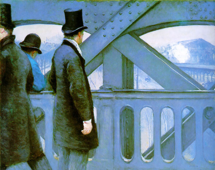 Caillebotte Oil Painting Reproductions - On the Europe Bridge