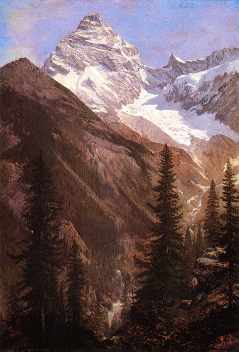 Calame Reproductions - Mountainous Landscape with a Torrent