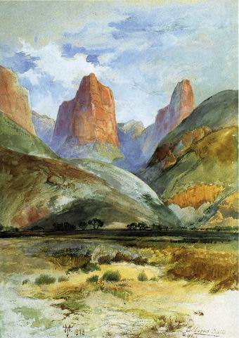 Colburns Butte painting, a Thomas Moran paintings reproduction, we never sell Colburns Butte poster
