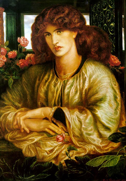 Dante Gabriel Rosseti Oil Painting Reproductions - The Lady of the Window