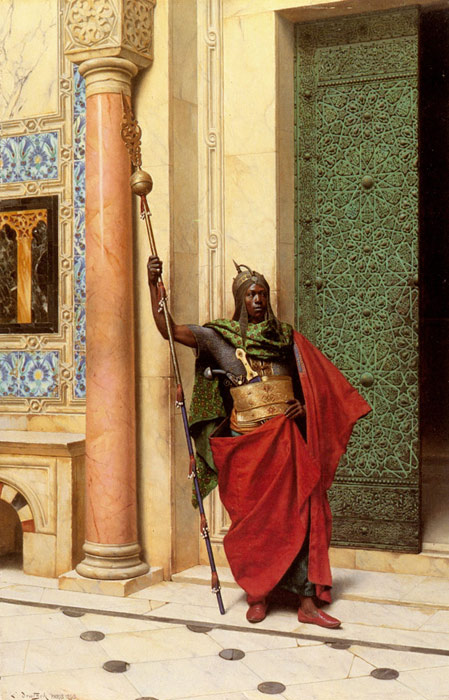 Deutsch Oil Painting Reproductions - A Nubian Guard