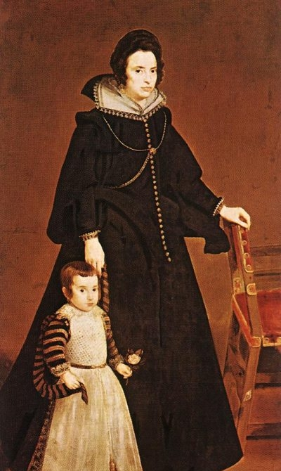 Dona Antonia de Ipenarrieta y Galdos and her Son Luis - Oil Painting Reproduction