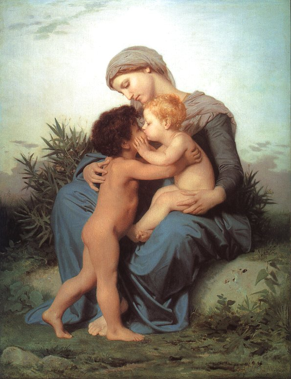 Fraternal Love painting, a Adolph William Bouguereau paintings reproduction, we never sell Fraternal
