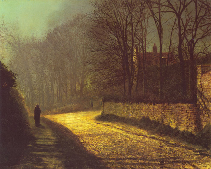 Grimshaw Oil Painting Reproductions - The Lovers