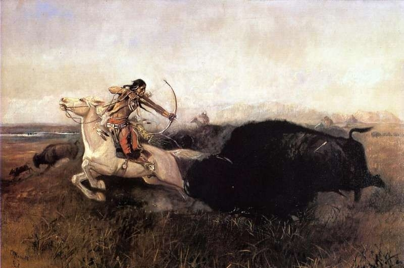 Indians on Plains - Oil Painting Reproduction