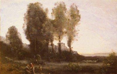 Le Monastere Derriere Les Arbres - Oil Painting Reproduction