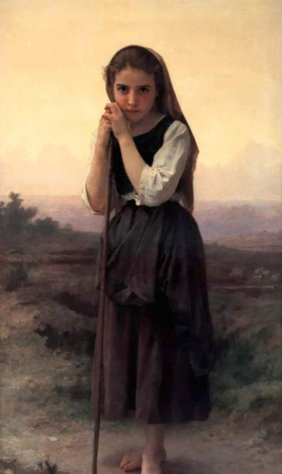 Little Shepherdress - Oil Painting Reproduction