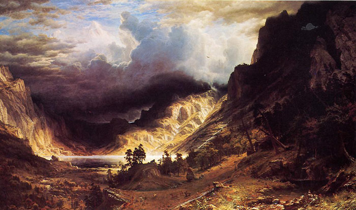 Oil Painting Reproduction of Bierstadt - A Storm in the Rocky Mountains, Mr. Rosalie
