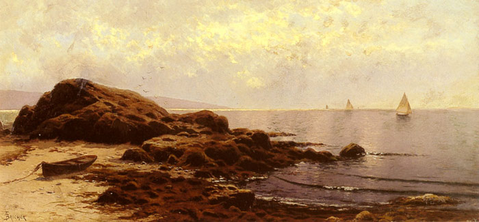 Oil Painting Reproduction of Bricher- Low Tide, Baileys Island, Maine