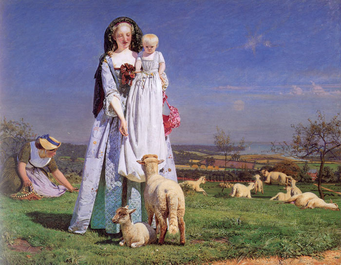 Oil Painting Reproduction of Brown- The Pretty Baa-Lambs