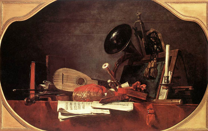 Oil Painting Reproduction of Chardin- Attributes of Music