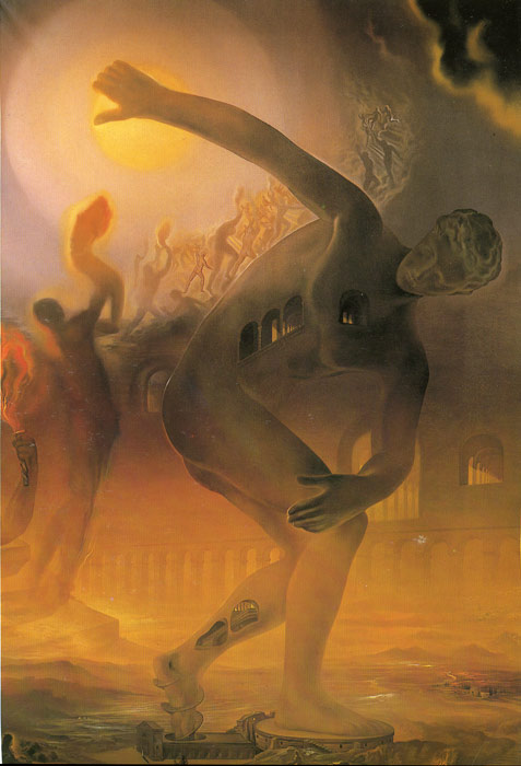 Oil Painting Reproduction of Dali- The Cosmic Athlete