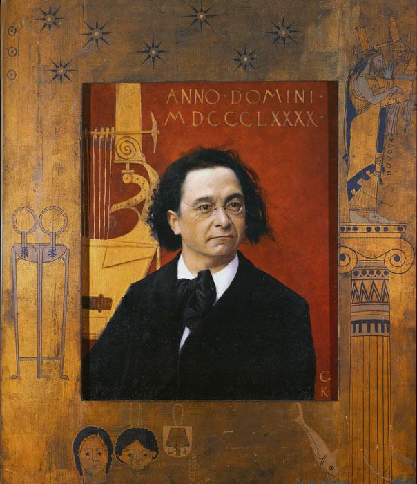 Oil Painting Reproduction of Klimt- Portrait of the Pianist Josef Pembauer