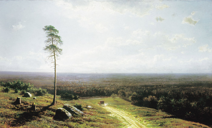 Oil Painting Reproduction of Klodt - Forest at Midday