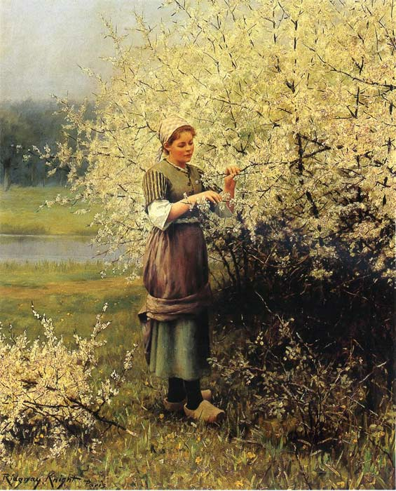 Oil Painting Reproduction of Knight - Spring Blossoms