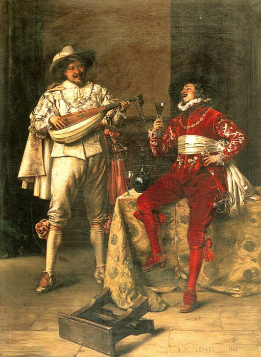 Oil Painting Reproduction of Lesrel- Gentlemens Pleasures