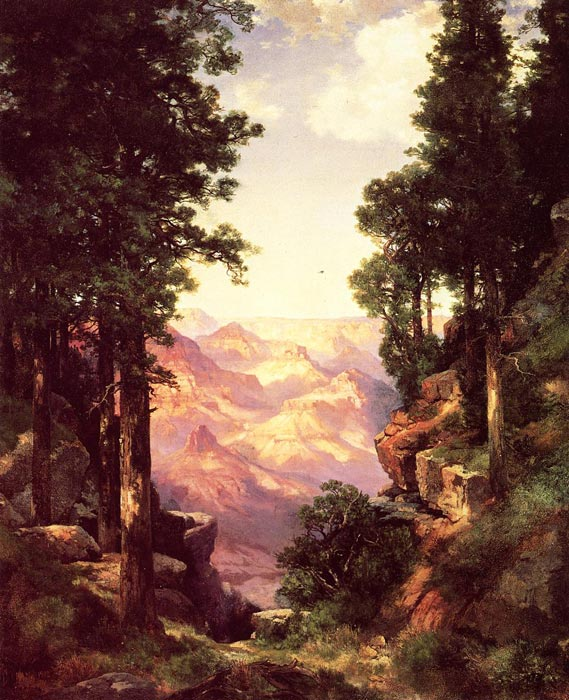 Oil Painting Reproduction of Moran- Grand Canyon