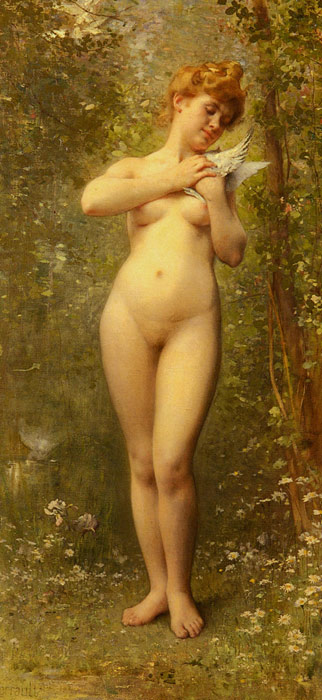 Oil Painting Reproduction of Perrault- Venus A La Colombe [Venus With A Dove]