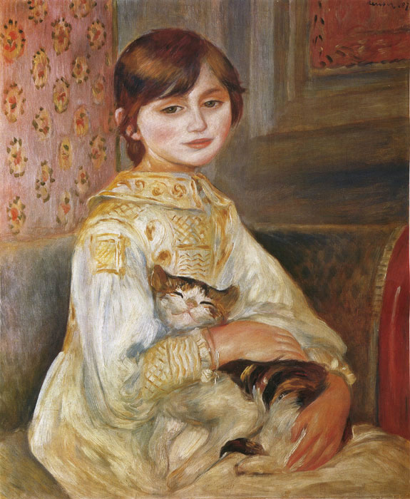 Oil Painting Reproduction of Renoir- Child with Cat