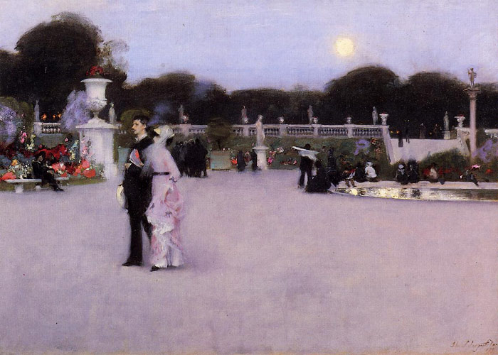Oil Painting Reproduction of Sargent- In the Luxembourg Garden