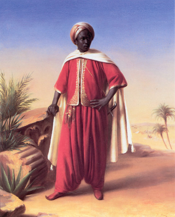 Oil Painting Reproduction of Vernet- Portrait of an Arab