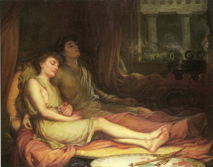 Oil Painting Reproduction of Waterhouse- Sleep and His Half Brother Death