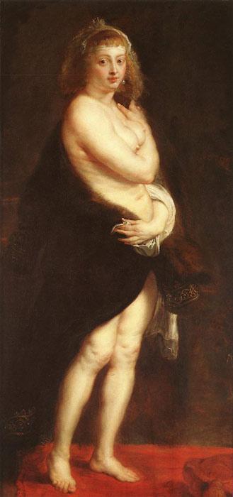 Peter Paul Rubens Oil Painting Reproductions- Venus in Fur-Coat
