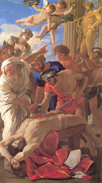 Poussin Oil Painting Reproductions- The Martyrdom of St Erasmus