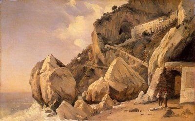 Rocks in Amalfi - Oil Painting Reproduction
