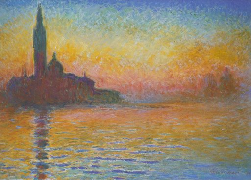 San Giorgio Maggiore at Dusk, 1908 painting, a Claude Monet paintings reproduction, we never sell