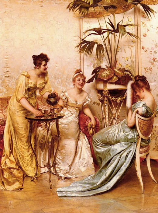 Soulacroix Oil Painting Reproductions - The Tea Party