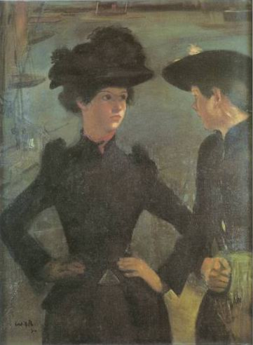 The Coaster Girls painting, a William Rothenstein paintings reproduction, we never sell The Coaster