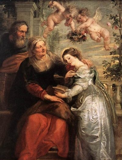 The Education of the Virgin - Oil Painting Reproduction