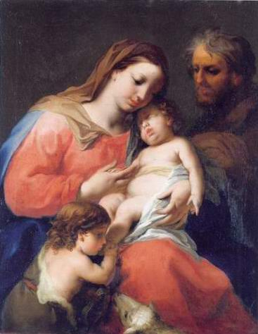 The Holy family with the infant saint John the Bap painting, a Jacopo Amigoni paintings