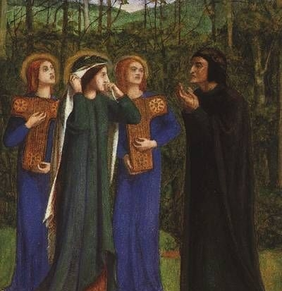 The Meeting of Dante and Beatrice in Paradise - Oil Painting Reproduction