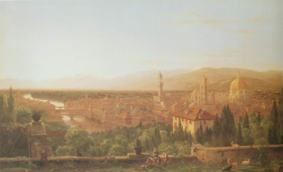 View of Florence from san Miniato painting
