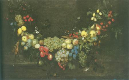 Still Life oil painting with fruit group