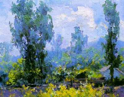 morning scenery painting, a impressionism painter paintings reproduction, we never sell morning