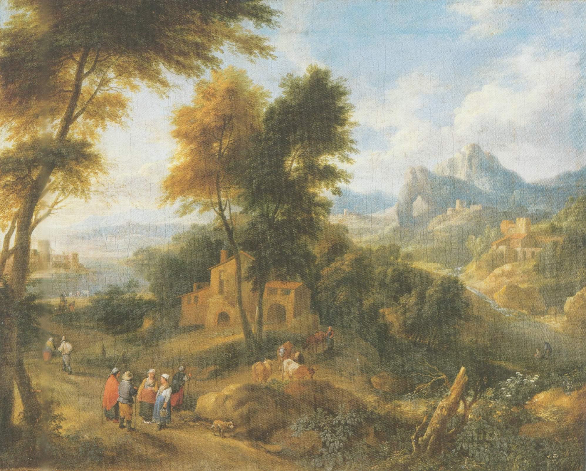 mountainous landscpe painting