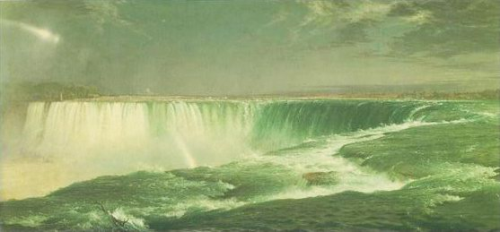 niagara painting, a frederick edwin church paintings reproduction