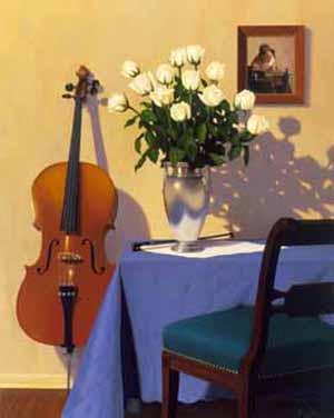 room still life oil painting