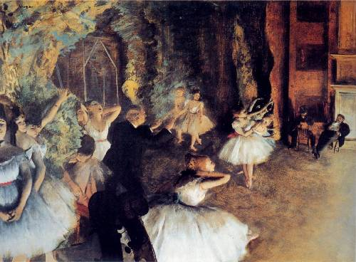 rehearsal painting, a Edgar Degas paintings reproduction, we never sell rehearsal poster