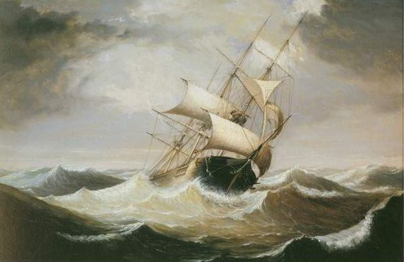 three master in rough sea painting, a Fitz Hugh Lane paintings reproduction, we never sell three