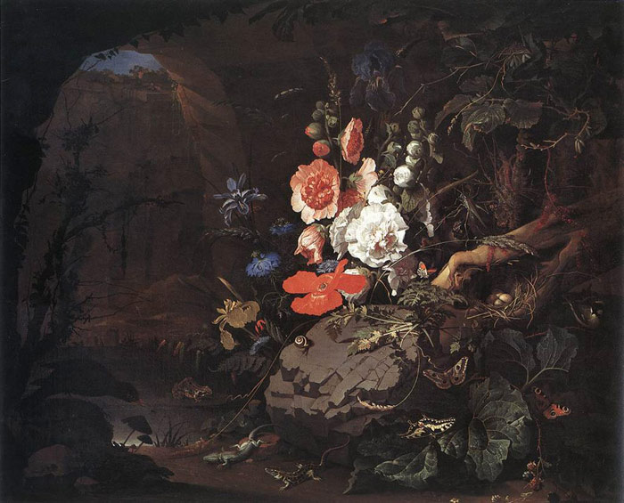 Oil Painting Reproduction of Mignon- The Nature as a Symbol of Vanitas